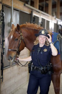 Officer Lori Mullin with Roscoe - December 2009